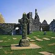 Clonmacnoise, Co Offaly, Ireland, West Art Print