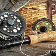 Close-up Fly Fishing Rod  Art Print