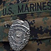 Close-up Of A Duty Master-at-arms Badge Art Print