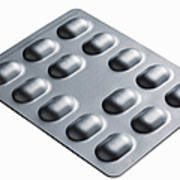 Close Up Of Blister Pack Of Pills Art Print