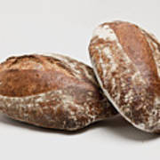 Close Up Of Loaves Of Bread Art Print by Henn Photography