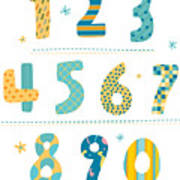 Close-up Of Numbers Art Print