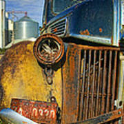 Close Up Of Rusty Truck Art Print