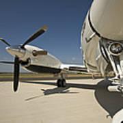 Close Up Of Turbo-prop Aircraft Art Print