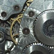 Close-up View Of Complex Clockwork Art Print