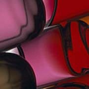 Close View Of Colored Water, Imitating Art Print