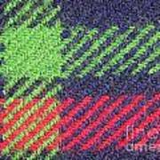 Closeup Of Multi-colored Fabric Art Print
