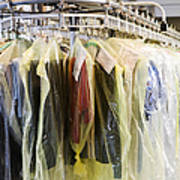 Clothing At Dry Cleaners Art Print