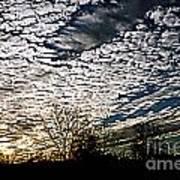 Cloud Blanket Sunset Art Print