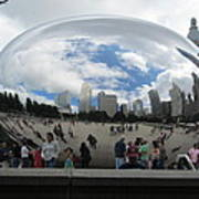 Cloud-gate-one Art Print by Todd Sherlock