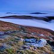 Cloud Waterfalls Bannerdale Crags Art Print by Stewart Smith