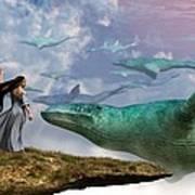 Cloud Whales Art Print