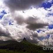 Clouded Hills At Nasik India Art Print
