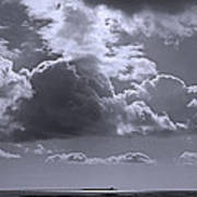 Clouds Gathering Art Print