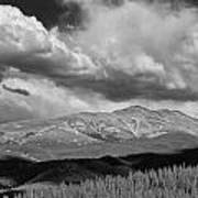 Clouds Over Breckenridge Colorado Art Print