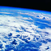 Clouds Over Earth Viewed From A Satellite Art Print by Stockbyte