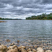 Clouds Over The American River Art Print