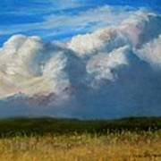 Clouds Over The Meadow Art Print