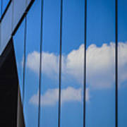 Clouds Reflected In A Glass Facade Art Print