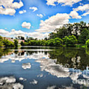 Clouds Reflection On Water Art Print