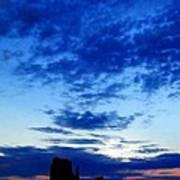 Cloudy Blue Monument Art Print