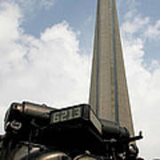 Cn Tower And Train Art Print