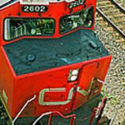 Cn Train Cab Art Print