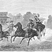 Coaching, 1860 Art Print