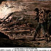 Coal Mine Explosion, 1884 Art Print