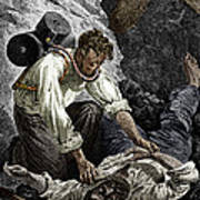 Coal Mine Rescue, 19th Century Art Print by Sheila Terry