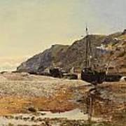 Coastal Scene Art Print by Henry Moore