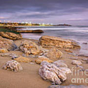 Coastline At Twilight Art Print
