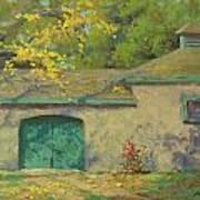 Cobblestone Barn Art Print