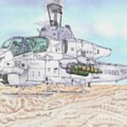 Cobra Attack Helicopter Art Print