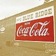 Coca-cola Sepia Art Print
