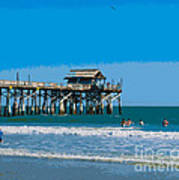 Cocoa Beach Pier Florida Art Print