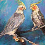 Coctaiel Parrots Art Print