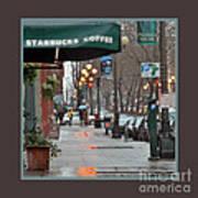Coffee And Rain In Seattle Art Print