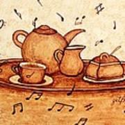 Coffee Break 2 Coffee Painting Art Print