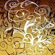 Coffee Flowers 1 Calypso Art Print