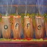 Coffee In The Window Art Print