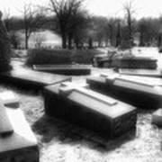 Coffins And Angel Art Print