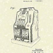 Coin Operated Casino Machine 1938 Patent Art Art Print by Prior Art Design