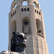 Coit Tower Statue Columbus Art Print
