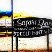 Cold Bintang At The Safari Bar In Bali Art Print by Funkpix Photo Hunter