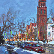 Cold Morning In Elmwood Ave  Art Print