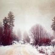 Cold Road Art Print