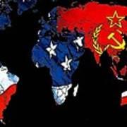 Cold War Map Art Print