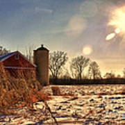 Cold Winter Barn Art Print