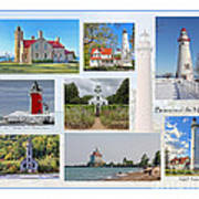 Collection Of Lighthouses Art Print